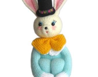 Easter BUNNY Knee Hugger PDF Email Knit PATTERN