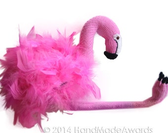 Marshmallow the Pink FLAMINGO Pdf Email Knit PATTERN