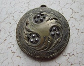 Lovely Vintage Marcasite Medallion or Pendant - Art Nouveau in Design
