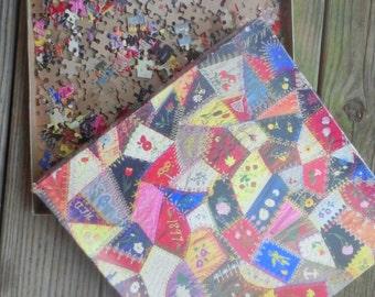 Vintage Crazy Quilt 551 Piece Puzzle