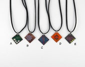 Everyday Enamels - diamond pendant, variety of colors/designs