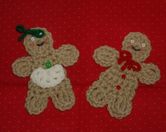 Mr and Mrs Gingerbread man and woman ornaments