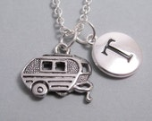 Travel Camper Charm Silver Plated Charm Supplies