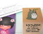 Totoro Wooden Rubber Stamp - Leaf