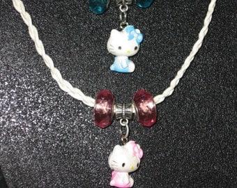 Hemp Children's Necklace/Kitty