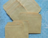 9 LIBRARY CARD POCKETS- Fun scrapbook & Journaling ephemera holder- Vintage library card pocket vintage journal pocket for scrapbooking