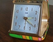 Vintage 1960's Mod Elgin Travel Clock....Japan
