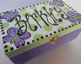 Hand Painted Jewelry Boxes-jewelry storage-jewelry organization-trinket box-booble-box