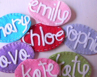 Personalized Name Felt Hair Clip