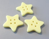 20pcs 4 Hole Buttons...Star Shaped... Yellow...25mm... Sewing... EB184