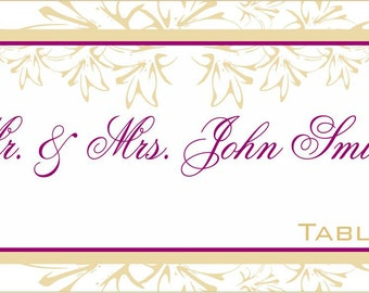 Wedding Placecards 50 Elegant Floral Placecards for Rehearsal Dinners, Receptions & Parties
