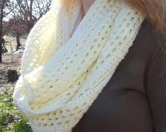 Vanilla Cream Infinity Scarf - PDF Crochet Pattern - Instant Download