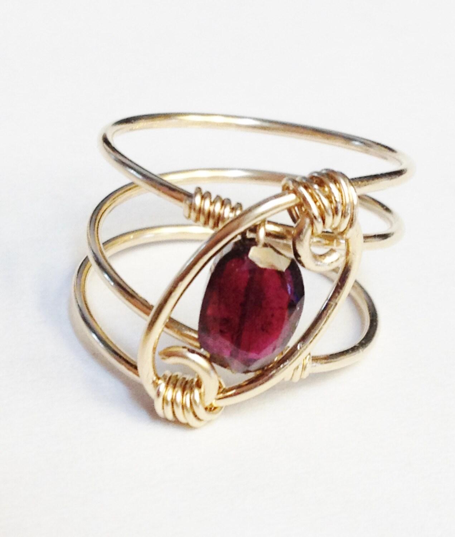 garnet ring garnet jewelry january birthstone by. Black Bedroom Furniture Sets. Home Design Ideas