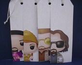 Set of 4 Big Lebowski Gift Tags