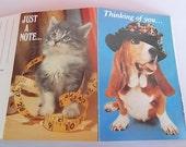 Vintage animal postcards