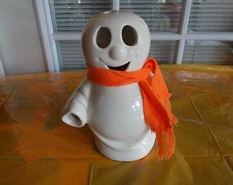 Vintage Ceramic Halloween Ghost Tea Light Holder