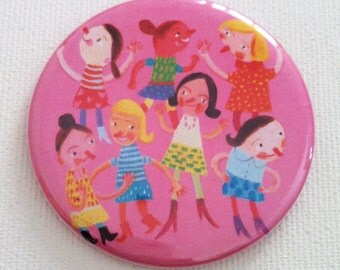 mirror / Tiny mirror / Handmade Mirror / pocket accessory / Pocket Mirror / colorful Mirror