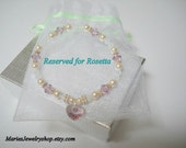 Reserved Listing for Rosetta  Swarovski Crystal Decade Birthday Bracelet with Swarovski Heart Drop