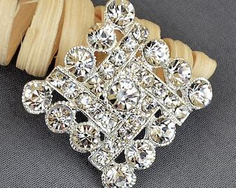 5 Rhinestone Button Embellishment Crystal Wedding Brooch Bouquet Wedding Invitation Cake Decoration Hair Comb Shoe Clip BT590