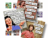 1x1 Digital Collage Sheet Fabulous Fifties Quotes Scrabble Images For Jewelry Square Words Sayings Retro Tags