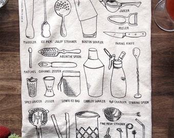 Bar Tools Bar Towel - Cocktail Mixing Hostess Gift