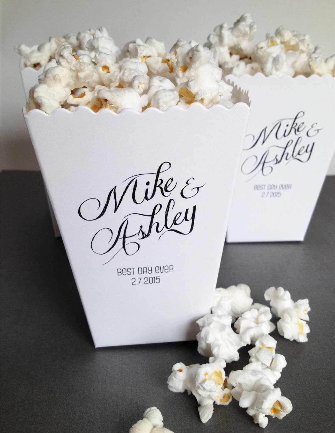 Popcorn Box Wedding Favor Custom Printed Mini Popcorn