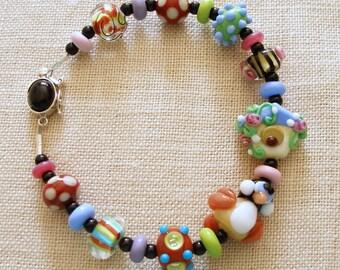 Bird Bracelet, Birdhouse, Chickadee, Blue Bird House, Birdwatcher, Bird Lover, Flowers
