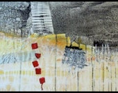 Reserved for Genevieve -  Large Contemporary Abstract Mixed Media Painting by Kim Bosco