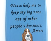 Basset Hound Sign, Oh Lord... in Country Blue