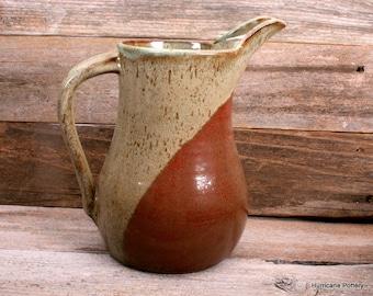 Kitchen Beverage Pitcher. Handthrown Ceramic Pitcher. Ceramic Pottery Pitcher. Iced Tea Pitcher. Water Pitcher.
