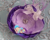Baby Girl Lilac Lavender Periwinkle Purple Newborn Flower Heaband Photo Prop Easter Spring