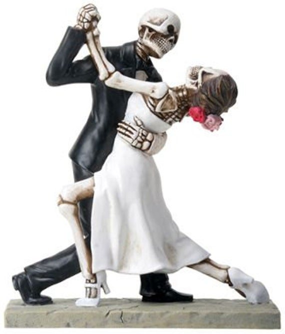 Halloween Wedding Cake Toppers Bride and Groom 1st Dance True