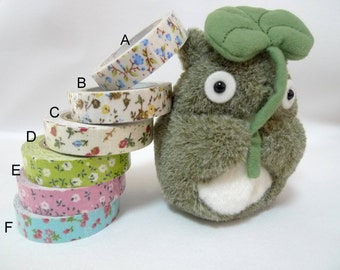 Adhesive fabric tape, Floral tape for crafts, Wrapping tape, 2 rolls