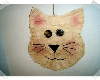 CAT Ornament/ Muslin Fabric /Handmade**