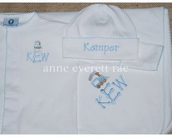 Baby Boy Coming Home Outfit, Thatcher Cho-Cho Converter Gown, New Baby gift,Newborn Pictures
