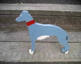 Wooden Greyhound - free standing