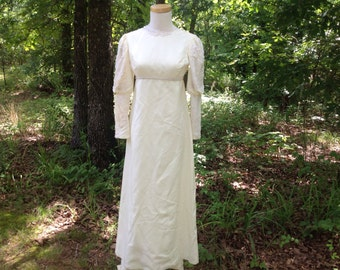 Vintage Wedding Dress 1960s or 70s