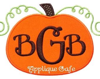 508 Pumpkin 7 Machine Embroidery Applique Design