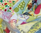 STORE Closing SALE- Buy 2 get one FREE - Designer fabric scrap bag- 9.5 oz
