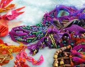 Fire Breathing Beaded and Fabric Dragon