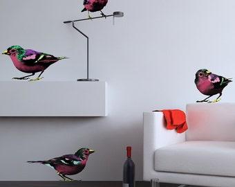 Pop Art Sparrows Wall Stickers