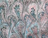 marbled paper, Marmorpapier, Papel marmolado,  Bookbinding  paper, scrapbooks, 19,5
