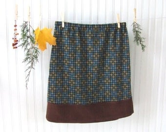 Women's Corduroy Skirt - Harvest Gold, Dark Brown Sugar, Olive Green, Blue - Size 10 A Line Floral Fall Winter Skirt