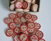 Vintage BINGO Markers // Lot of 71 Vintage Bingo Markers // Old Wood Markers