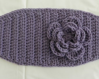 Crochet Head Wrap/ Ear Warmer/ Lavendar