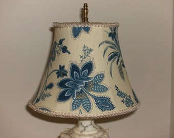 Blue Floral Lampshade
