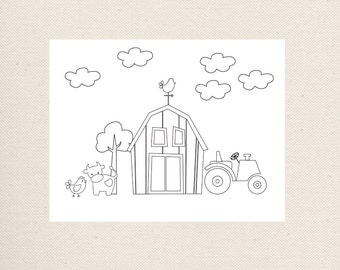 Barnyard Coloring Page