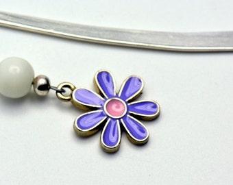 Sale / On Sale / Clearance Jewelry / Jewelry on Sale / Marked Down / Purple Daisy Mini Bookmark - BK00016