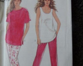 Simplicity 7244 Its so Easy Misses Pants and Tops in sizes (8-20)