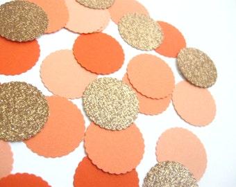 Ombre Orange Confetti -  Bronze Glitter Confetti - Parties/Showers/Weddings/Holidays Confetti/Table Decor/DIY Garland - Toss Confetti